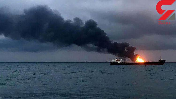 نخستین عکس از منفجر شدن ناو آذربایجان در دریای خزر