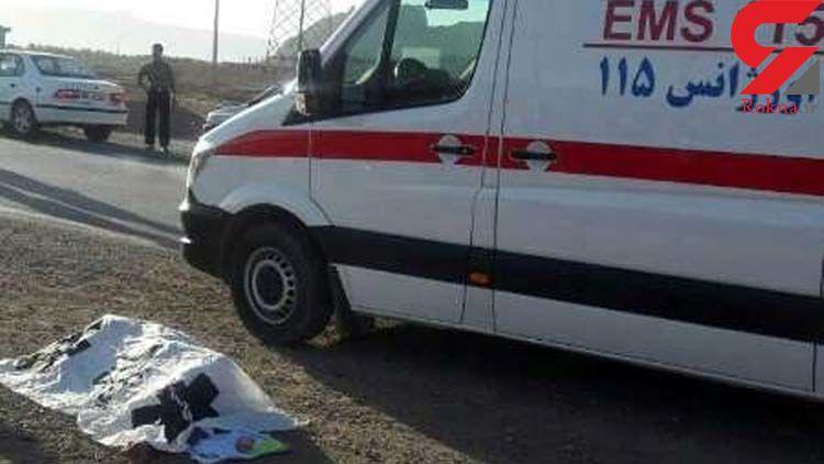 تصادف مرگبار یک سمند با دو دستگاه کامیون در محور همدان-زنجان