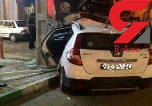 فیلم لحظه هولناک تصادف خودروی چینی با پاکبان در شیراز
