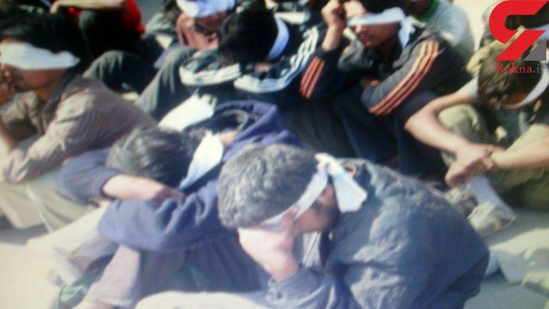 دستگیری ۱۲ پیک مرگ در تربت جام + عکس
