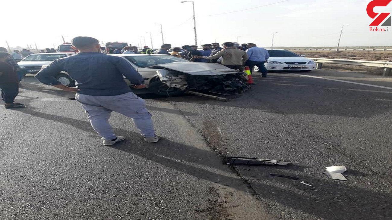 تصادف مرگبار در جاده شلمچه + عکس