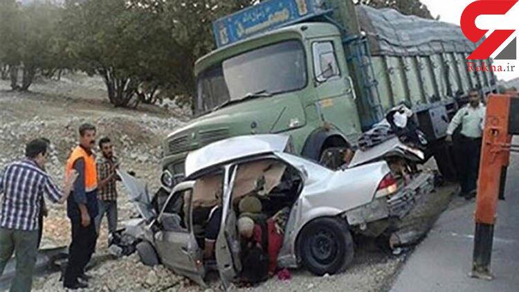 تصادف وحشتناک خاور با سمند در محور داورزن-شاهرود
