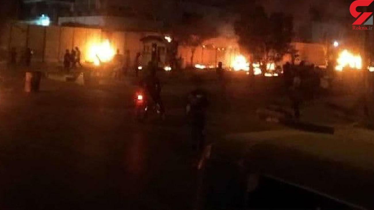 فیلم آتش زدن کنسولگری ایران در کربلا + جزییات