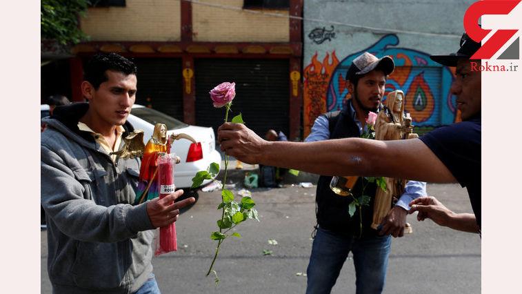 حمل تندیس های مرگ در سال نوی مکزیکی ها +تصاویر