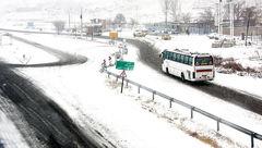 بارش سنگین برف در گردنههای لرستان