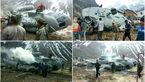 عجیب ترین  عکس ها از سقوط بالگرد در برخورد با تیرآهن + تصاویر