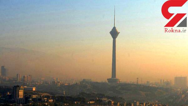 تهران در آستانه هوای ناسالم برای گروههای حساس