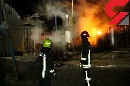 انفجار مهیب مخزن 30 هزار لیتری روغن  در مشهد+عکس