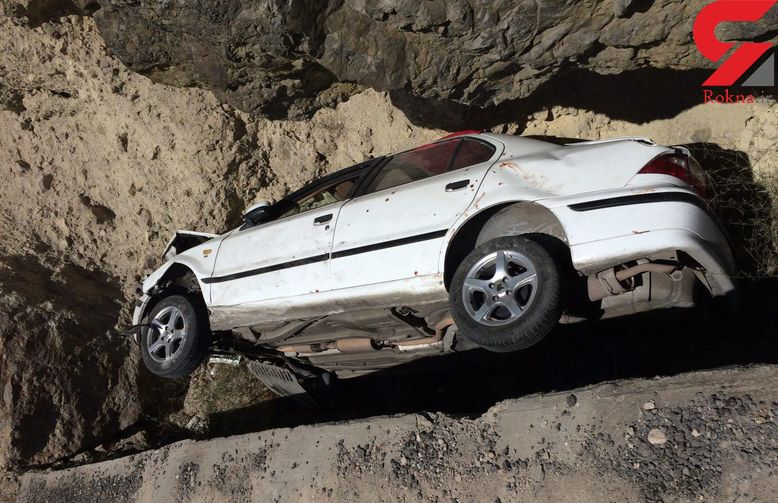 جان باختن یک نفر در سقوط سمند به دره + عکس