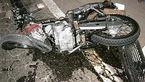 مرگ راکب موتورسیکلت پس از واژگونی