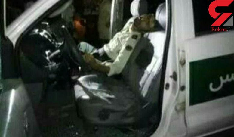شهادت 2 مامور پلیس میناب در شلیک افراد مسلح + عکس محل حادثه