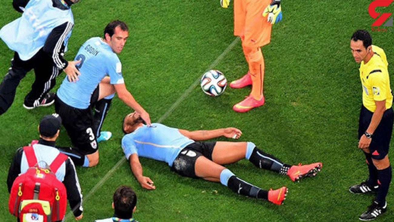 فیلم لحظه ایست قلبی بازیکنان فوتبال در وسط زمین