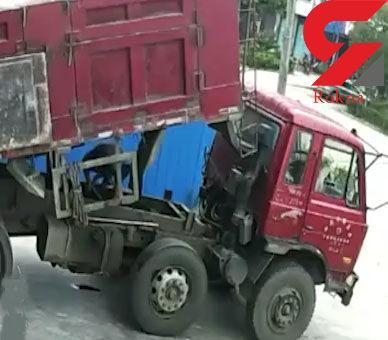 مرگ دردناک یک تعمیرکار ماشین های سنگین زیر بار کامیون+ فیلم