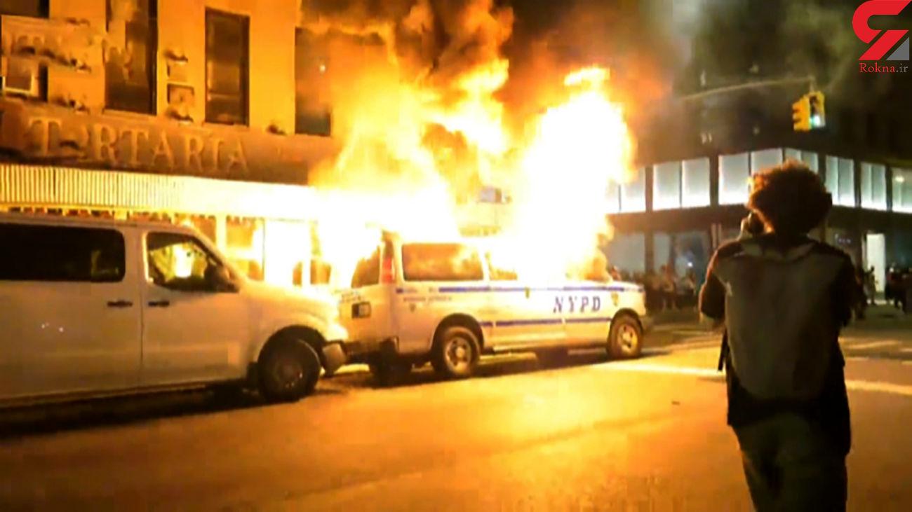 خشم بینهایت مردم منهتن در اعتراض به قتل یک سیاه پوست توسط پلیس + فیلم