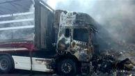 واژگونی کامیون حامل ۲۴ تن گوگرد در سبزوار