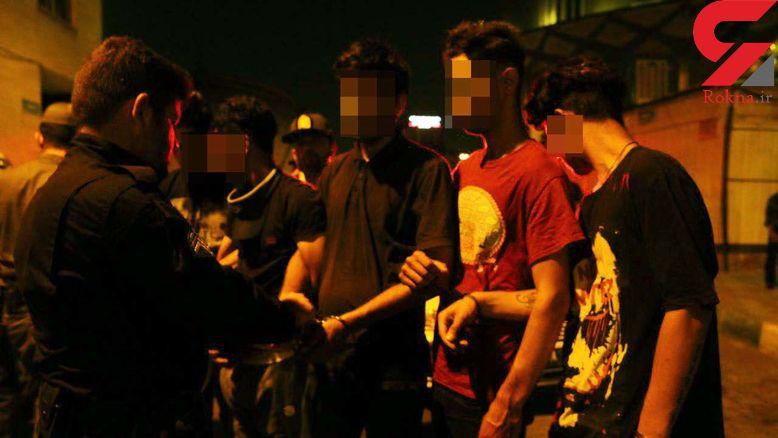حمله پلیس به خلافکاران پارک دانشجو +عکس و فیلم