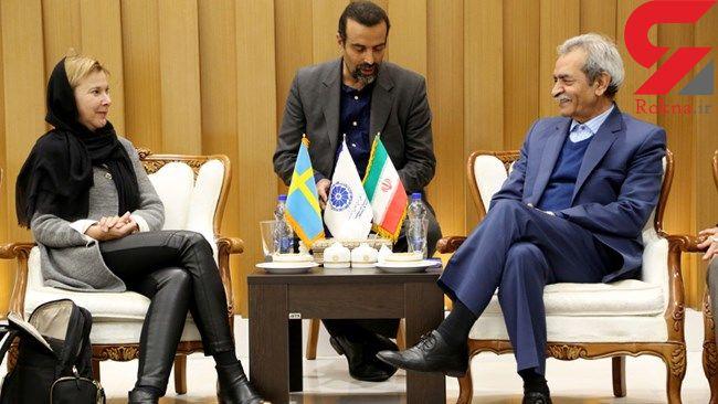 دیار سفیر سوئد با رئیس اتاق بازرگانی ایران