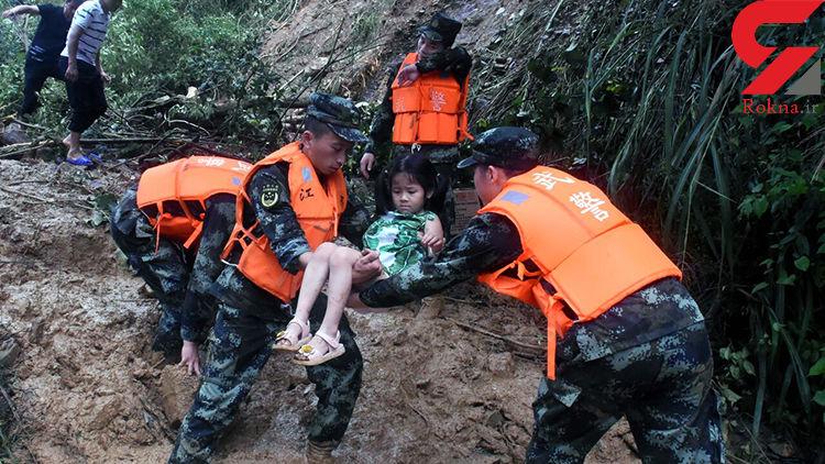 سیل ۷ نفر را در شرق چین با خود برد + عکس