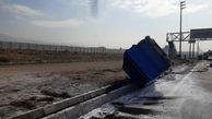 واژگونی وحشتناک نیسان در جاده خاوران + عکس