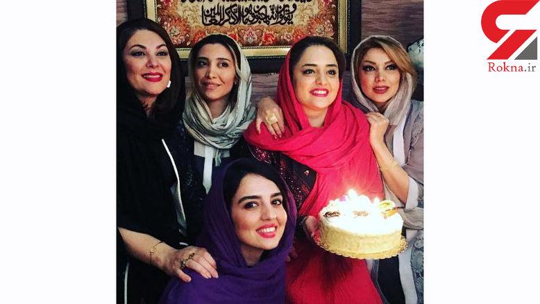 عکس یادگاری زنان بازیگر در جشن تولد نرگس محمدی