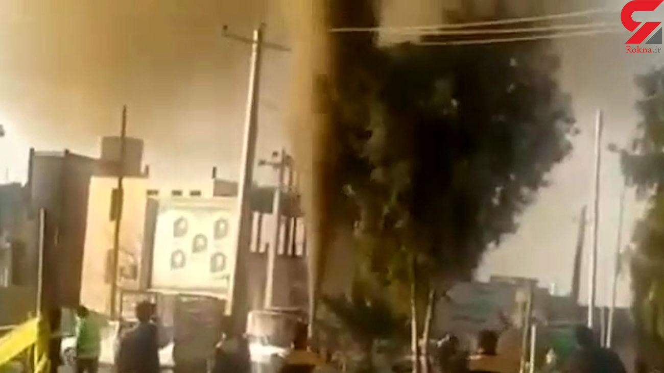 فیلم هولناک از لحظه  انفجار گاز در بافق