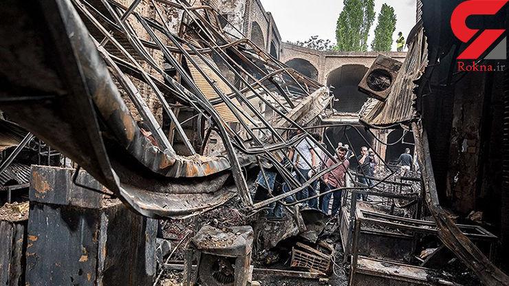 علت اصلی آتش سوزی ویرانگر بازار تاریخی تبریز مشخص شد / صدها مغازه خاکستر شد+ عکس