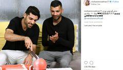 مهدی طارمی توپ فوتبال را با چاقو برید! +عکس