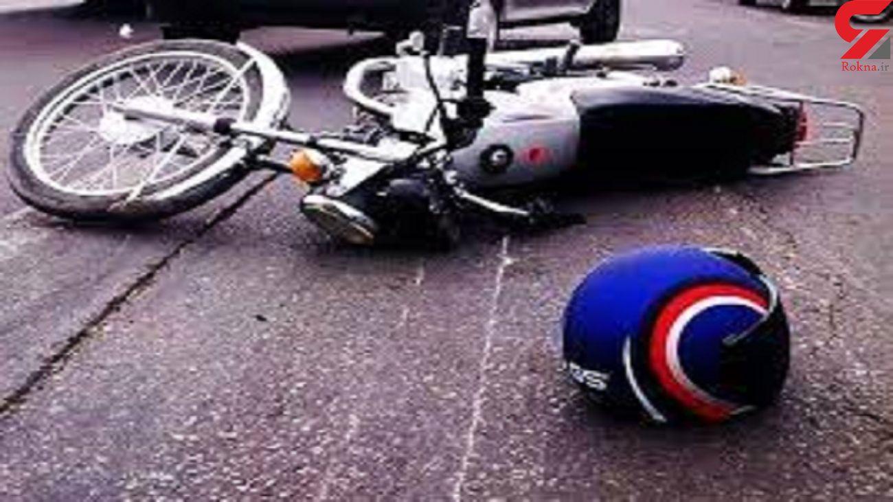 واژگونی مرگبار موتورسیکلت در جاده نایه استان قم