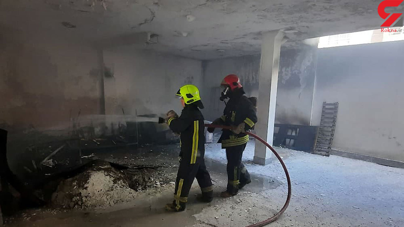 عکس های عملیات ویژه برای نجات 7 مشهدی گرفتار در آتش