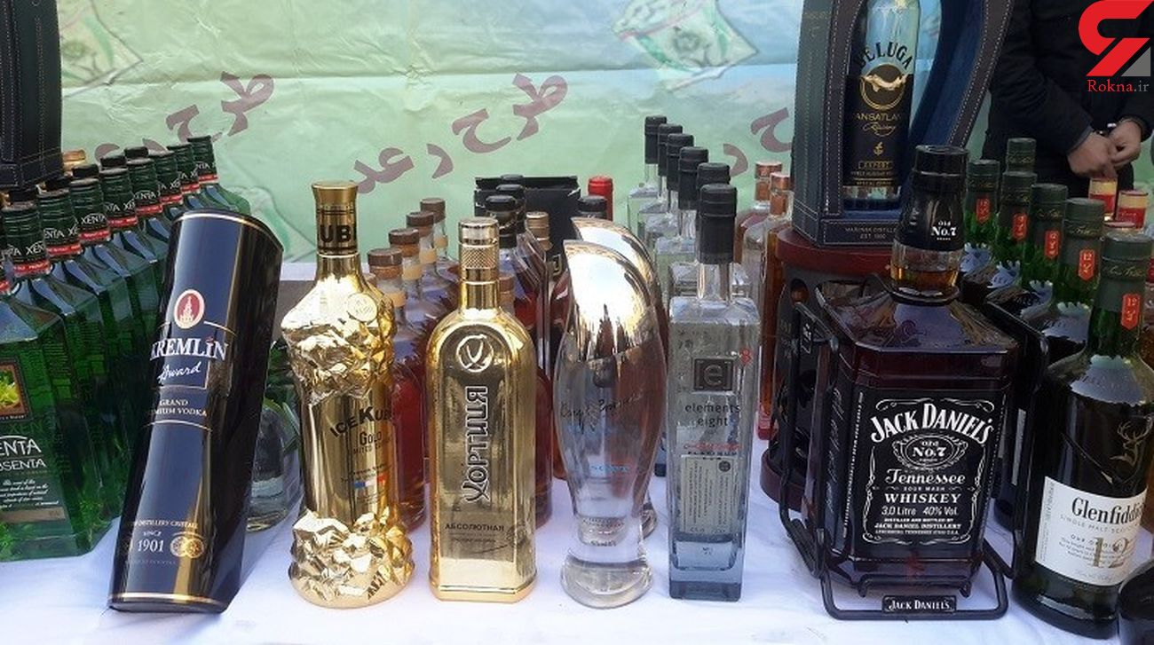 کشف بیش از 700 بطری مشروبات الکلی در محدوده خیابان جمهوری + عکس