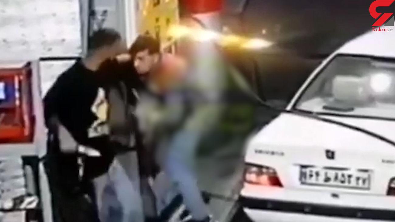 فیلم هولناک از ضربات وحشتناک چاقو بر پیکر کارگر پمپ بنزین بوکان