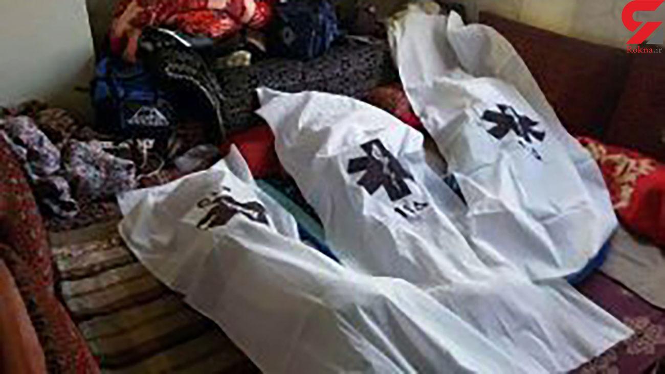 مرگ 2 مرد و یک زن در حصارک / کشف جنازه ها در خانه