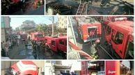 یک خانه ویلایی در رشت آتش گرفت