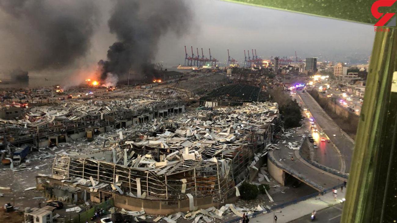 عکس های هولناک از انفجار مهیب بیروت / هزاران کشته و زخمی  + فیلم