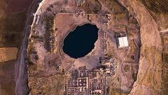 تصویری هوایی از تخت سلیمان