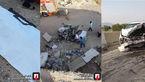 تصادف مرگبار در جاده ورامین با یک کشته و ۲ زخمی + عکس