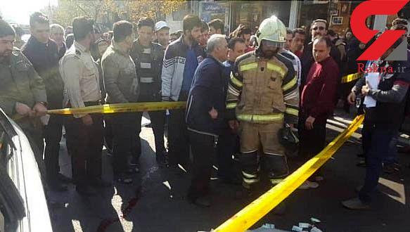 کامیون از روی زن تهرانی رد شد + عکس های لحظه حادثه