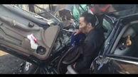 زنده ماندن عجیب راننده خودرو با کامیون + فیلم