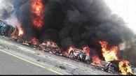 خاکستر شدن 55 آفریقایی بر اثر انفجار تانکر حامل سوخت +عکس هولناک