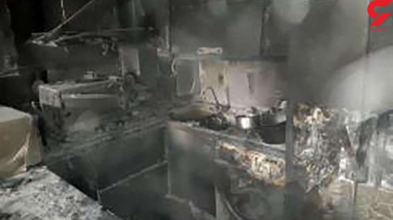 زن شیرازی سوخت و جان باخت + عکس صحنه آتش سوزی