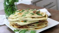 نان سیر هندی بدون فر بپزید+دستور تهیه