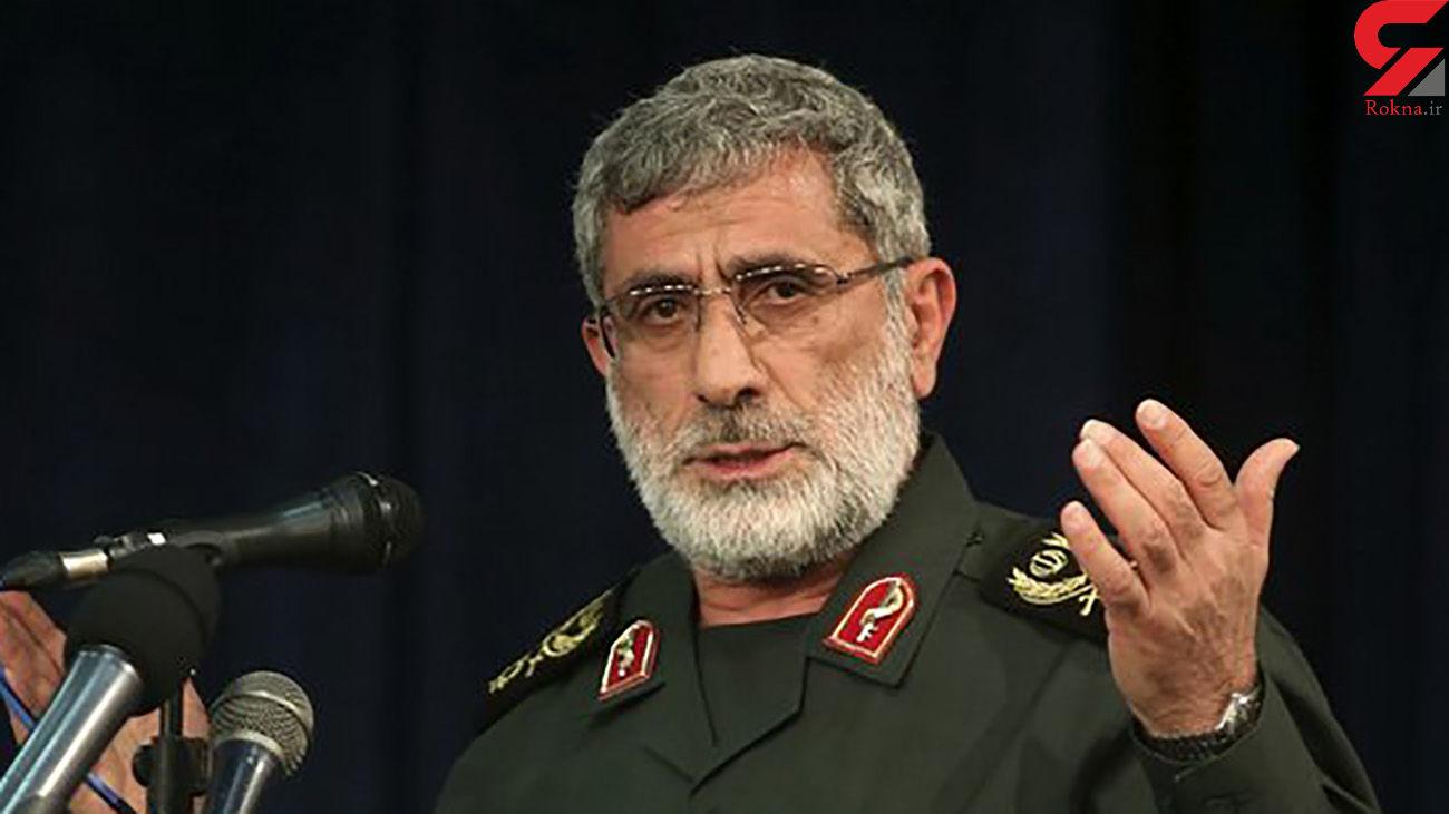 فرمانده نیروی قدس سپاه: استخوانهای دشمن در حال خرد شدن است