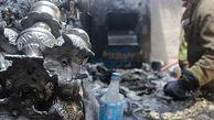 آتش سوزی یک کارگاه لوستر سازی در بازار تهران + تصاویر