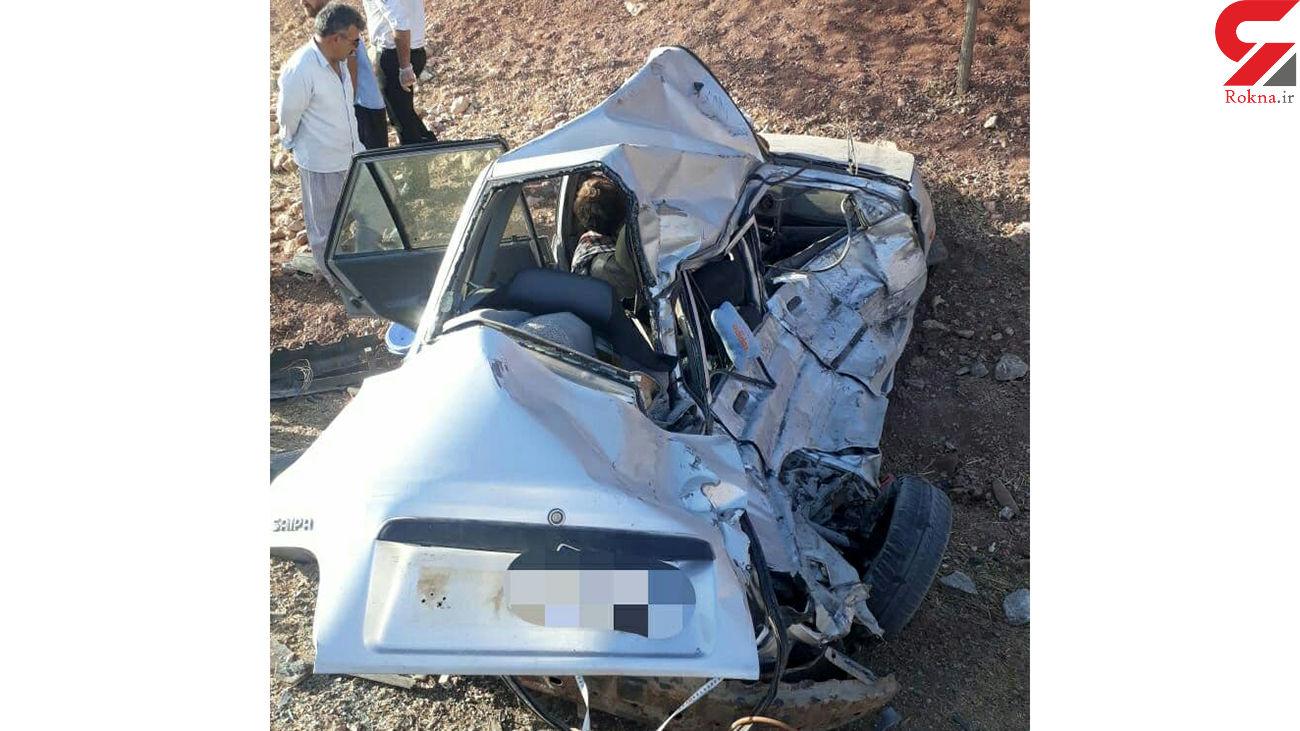 مرگ تلخ در پراید مچاله شده / در خرم آباد رخ داد + عکس ها