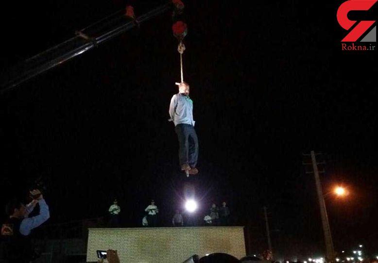 قاتل آتنا اصلانی اعدام شد + اولین فیلم و عکس / لحظه به لحظه اعدام در ملاعام