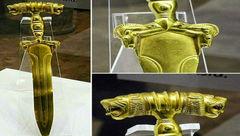 کشف شمشیر هخامنشی از طلای ناب در همدان + عکس