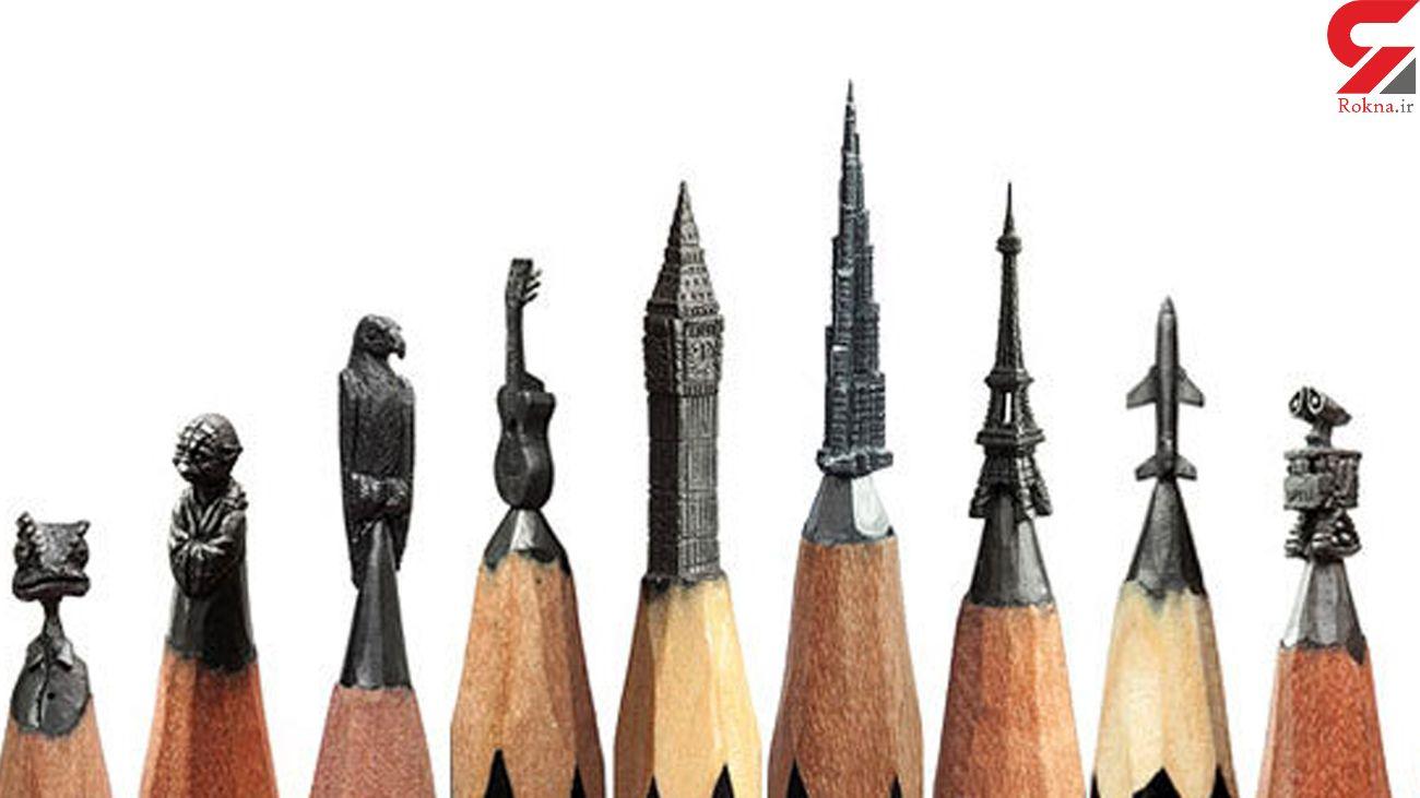 ساختن مجسمه روی نوک مداد + فیلم