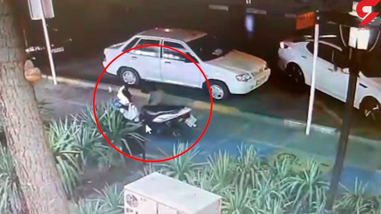فیلم سرقت موتورسیکلت در مشهد / دزد زبل خان بود