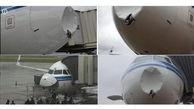 عجیب ترین تصادف هواپیما با توده یخ در آسمان!