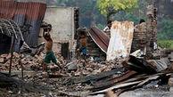 میانمار، خانههای مسلمانان روهینگیا را با خاک یکسان کرد